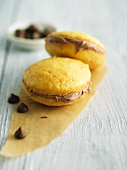 Vanilla Whoopie Pies with Milk Chocolate Cream