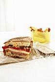 Muffuletta Sandwich with Apple Slices