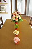 Table Set with Bouquets of Flowers