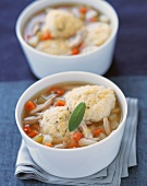 Two Bowls of Matzoh Ball Soup
