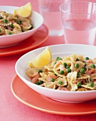 Farfalle with Salmon and Peas