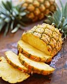 Partially Sliced Pineapple