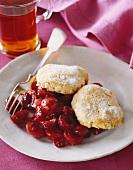 Cherry shortcake (USA)