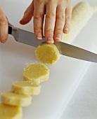 Slicing Sugar Cookies