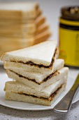 Vegemite sandwiches (tasty spread, Australia)