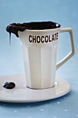Chocolate sauce in a small jug