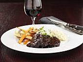 Beef fillet with red wine sauce
