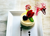 White chocolate mousse confection