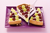 Grape and elderflower tart