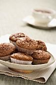 Apple and cocoa muffins