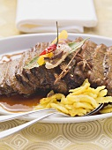 Braised shoulder of beef with toasted star anise