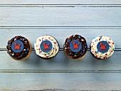 Four cupcakes (USA)