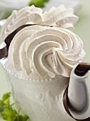 Meringue in a coffee pot