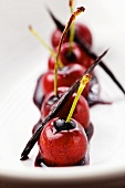 Cherries with port and vanilla sauce