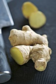 Ginger root, cut in half