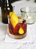 An 'Old Fashioned' cocktail