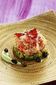 King crab tartar with avocado