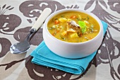Fish soup with cod