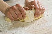 Kneading sweet yeast dough