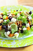 Red beet salad with feta, apricots and walnuts