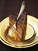 A slice of truffle cake