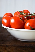 Vine tomatoes in a bowl