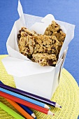 Homemade muesli bars for school