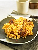 Saffron rice with partridge (Spain)