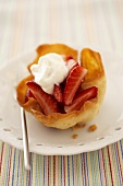 Strawberry tart in wafer pastry