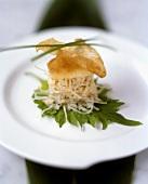 Crabmeat on rice noodles