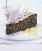 A piece of poppy seed cake