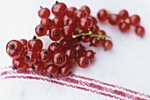 Redcurrants on a kitchen cloth