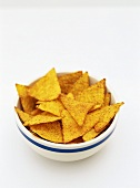 A small bowl of tortilla chips