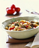 Gnocchi alla grossetana (with oyster mushrooms & tomatoes)