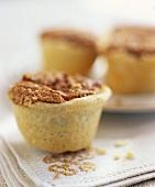 Several nut tarts