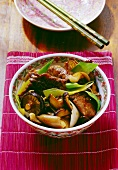 Beef with oyster sauce (China)