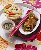 Bulgogi mit Kimchi (Mariniertes Rind & Kohl eingelegt, Korea)