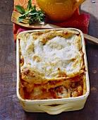 Lasagne al forno (Lasagne with mince sauce, Italy)
