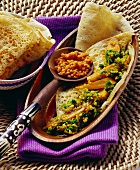 Flatbread with vegetables, barley and lentils (Ethiopia)