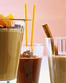 Coconut liqueur cocoa; shakes: mandarin & mocha, banana & coffee