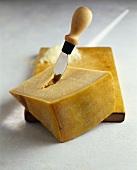 Parmigiano Reggiano on a wooden board