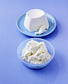 Ricotta on two plates
