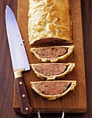 Calf's liver pate in puff pastry
