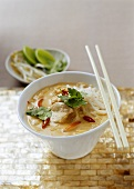 Chicken laksa (chicken with curry and coconut)