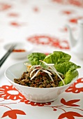 San choy bow (minced pork with soya sprouts and salad, China)