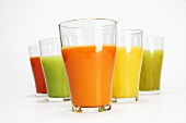 Five different fruit juices