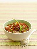 Gazpacho (cold vegetable soup, Spain)