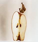A quartered apple