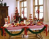 Buffet for Christmas brunch