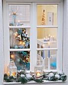 Blick ins weihnachtliche Zimmer